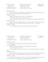 Bài giảng Đề + ĐA  HKI Lý 6 -2010-2011