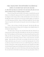 THỰC TRẠNG PHÂN TÍCH TÌNH HÌNH TÀI CHÍNH TẠI CÔNG TY CỔ PHẦN XÂY DỰNG SỐ 1 HÀ NỘI