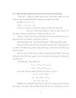 Gián án bài tập các định luật trong Hóa học
