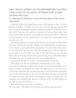 THỰC TRẠNG LẬP BÁO CÁO TÀI CHÍNH HỢP NHẤT TẠI TỔNG CÔNG TY ĐẦU TƯ XÂY DỰNG CẤP THOÁT NƯỚC VÀ MÔI TRƯỜNG VIỆT NAM
