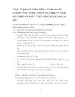 THỰC TRẠNG KẾ TOÁN TIỀN LƯƠNG VÀ CÁC KHOẢN TRÍCH THEO LƯƠNG TẠI CÔNG TY TNHH XÂY DỰNG VÀ PHÁT TRIỂN CÔNG NGHỆ CAO HÀ NỘI