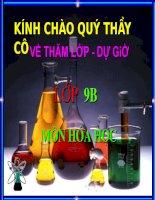 Bài giảng bài giảng hóa học 9