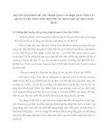 MỘT SỐ GIẢI PHÁP CHỦ YẾU NHẰM NÂNG CAO HIỆU QUẢ CÔNG TÁC QUẢN LÝ THU THUẾ TNDN ĐỐI VỚI CÁC DNNN TẠI CỤC THUẾ NAM ĐỊNH