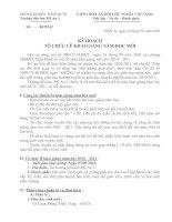 Tài liệu KẾ HOACH KHAI GIANG TRUONG TIEU HOC MỸ AN 2