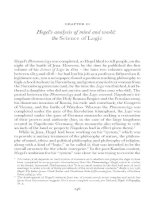Hegel's analysis of mind and world - the Science of Logic