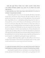 MỘT SỐ GIẢI PHÁP NÂNG CAO CHẤT LƯỢNG PHÂN TÍCHTÀI CHÍNH DOANH NGHIỆP TẠI CÔNG TY CỔ PHẦN MAI LINH THANH HÓA