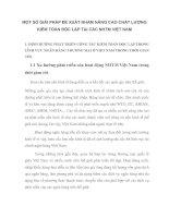 MỘT SỐ GIẢI PHÁP ĐỀ XUẤT NHẰM NÂNG CAO CHẤT LƯỢNG KIỂM TOÁN ĐỘC LẬP TẠI CÁC NHTM VIỆT NAM