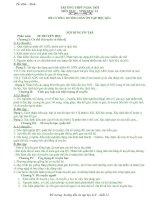 Tài liệu de cuong hoc ki 1 mon sinh 12