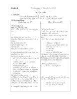 Tài liệu Giáo án 4 - tuần 4 buổi chiều