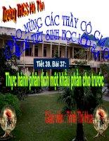 Bài soạn Bai 37: TH phan tich 1 khau phan an