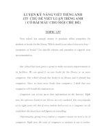 LUYỆN KỸ NĂNG VIẾT TIẾNG ANH 155 -CHỦ ĐỀ VIẾT LUẬN TIẾNG ANH 47