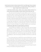 MỘT SỐ GIẢI PHÁP CƠ BẢN NHẰM NÂNG CAO HIỆU QUẢ HOẠT ĐỘNG THANH TOÁN XUẤT NHẬP KHẨU TẠI NGÂN HÀNG NÔNG NGHIỆP VÀ PHÁT TRIỂN NÔNG THÔN HÀ NỘI