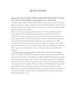TỔNG HỢP ĐỀ THI VÀ ĐÁP ÁN MÔN QUẢN TRỊ HỌC (CAO HỌC KINH TẾ)