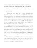 HOÀN THIỆN CÔNG TÁC KẾ TOÁN BÁN HÀNG VÀ XÁC ĐỊNH KẾT QUẢ KINH DOANH Ở CẢNG KHUYẾN LƯƠNG