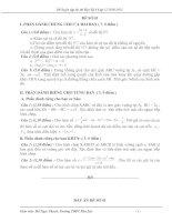 Gián án 4 đề thi thử 12 học kì 1 có đáp án