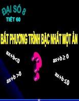 Bài giảng Bat phuong trinh bac nhat mot an
