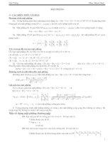 Gián án phương trình mặt phẳng(cơ bản)