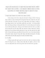 NHẬN XÉT ĐÁNH GIÁ VÀ MỘT SỐ GIẢI PHÁP HOÀN THIỆN KẾ TOÁN TIỀN LƯƠNG   CÁC KHOẢN TRÍCH THEO LƯƠNG TẠI CÔNG TY TNHH THƯƠNG MẠI VÀ DỊCH VỤ SAO PHƯƠNG BẮC
