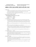 Gián án Cách cho điểm trên sổ đầu bài 1