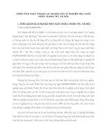 PHÂN TÍCH THỰC TRẠNG LỢI NHUẬN CỦA XÍ NGHIỆP MAY XUẤT KHẨU THANH TRÌ  HÀ NỘI