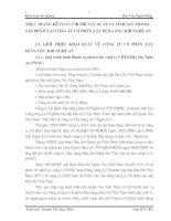 THỰC TRẠNG KẾ TOÁN CHI PHÍ SẢN XUẤT VÀ TÍNH GIÁ THÀNH SẢN PHẨM TẠI CÔNG TY CỔ PHẦN XÂY DỰNG DẦU KHÍ NGHỆ AN.