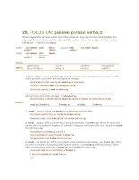 passive phrasal verbs 2