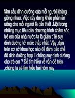 Bài soạn bai 36 - tiêu chuan an uong va nguyen tac lap khau phan
