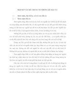 MỘT SỐ VẤN ĐỀ CHUNG VỀ THỐNG KÊ ĐẦU TƯ
