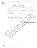 Các bài toán bất đẳng thức (Bài tập và hướng dẫn giải)