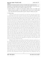 NHỮNG GIẢI PHÁP NHẰM NÂNG CAO HIỆU QUẢ KINH DOANH NGHIỆP VỤ BẢO HIỂM HÀNG HOÁ XUẤT NHẬP KHẨU VẬN CHUYỂN BẰNG ĐƯỜNG BIỂN Ở PJICO TRONG THỜI GIAN TỚI