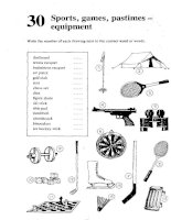 Test Your Vocabulary 2_Sports, games, pastimes - equipment