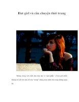 Hot girl và câu chuyện thời trang