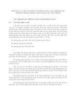 NHỮNG LÍ LUẬN CƠ BẢN VỀ KIỂM TOÁN CÁC KHOẢN DỰ PHÒNG TRONG KIỂM TOÁN BÁO CÁO TÀI CHÍNH