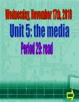 Bài giảng English 9 - Unit 5 reading