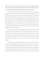 MỘT SỐ VẤN ĐỀ CHUNG VỀ NGUYÊN VẬT LIỆU VÀ SỰ CẦN THIẾT PHẢI TỔ CHỨC HẠCH TOÁN NGUYÊN VẬT LIỆU TRONG CÁC DOANH NGHIỆP SẢN XUẤT