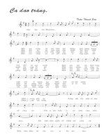 Bài hát ca dao trăng - Trần Thanh Sơn (lời bài hát có nốt)