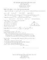 Bài soạn ĐỀ THI HỌC SINH GIỎI + DAP AN TOAN 9 HAY 3