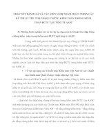 NHẬN XÉT ĐÁNH GIÁ VÀ CÁC KIẾN NGHỊ NHẰM HOÀN THIỆN CÁC KỸ THUẬT THU THẬP BẰNG CHỨNG KIỂM TOÁN TRONG KIỂM TOÁN BCTC TẠI CÔNG TY AASC