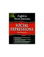Học Thành ngữ tiếng Anh qua những đoạn hội thoại - Social Expressions