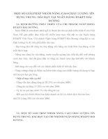 MỘT SỐ GIẢI PHÁP NHẰM NÂNG CAO CHẤT LƯỢNG TÍN DỤNG TRUNG- DÀI HẠN TẠI NGÂN HÀNG ĐT&PT HẢI DƯƠNG