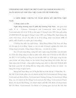 TÌNH HÌNH THU NHẬP CHI PHÍ VÀ KẾT QUẢ KINH DOANH CỦA NGÂN HÀNG KỸ THƯƠNG VIỆT NAM
