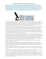 Tài liệu 8 dieu can biet khi su dung man hinh LCD