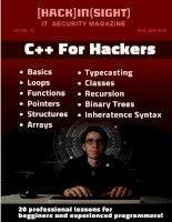 tài liệu học C++ nâng cao để trở thành hacker - english document