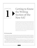 Getting to Know the Writing Section of the New SAT