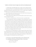 NHỮNG VẤN ĐỀ CƠ BẢN VỀ HIỆU QUẢ SẢN XUẤT KINH DOANH