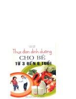 thực đơn dinh dưỡng cho bé từ 3 đến 6 tuổi