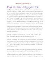 Tài liệu Nguyễn Du và đôi điều về tác phẩm truyện kiều