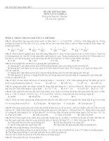Bài giảng 2 đề thi thử Đại học Môn Vật lý  và đáp án tham khảo
