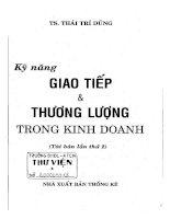 KỸ NĂNG GIAO TIẾP VÀ THUONG LƯỢNG TRONG KINH DOANH