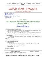 Bài giảng GIÁO ÁN NH 6 TUAN 20 -KÌ 2- lạng giang